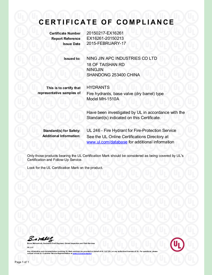 Certifications apc valves ul listed 1betcityfo Gallery